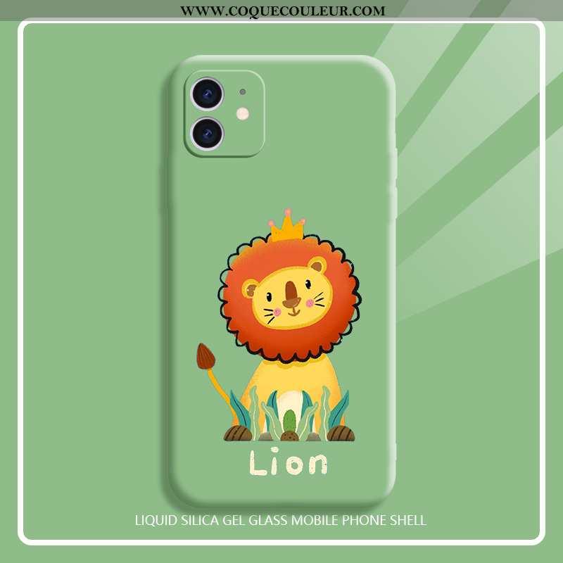 Coque iPhone 11 Charmant Mignonne Dessin Animé, Housse iPhone 11 Ultra Nouveau Verte