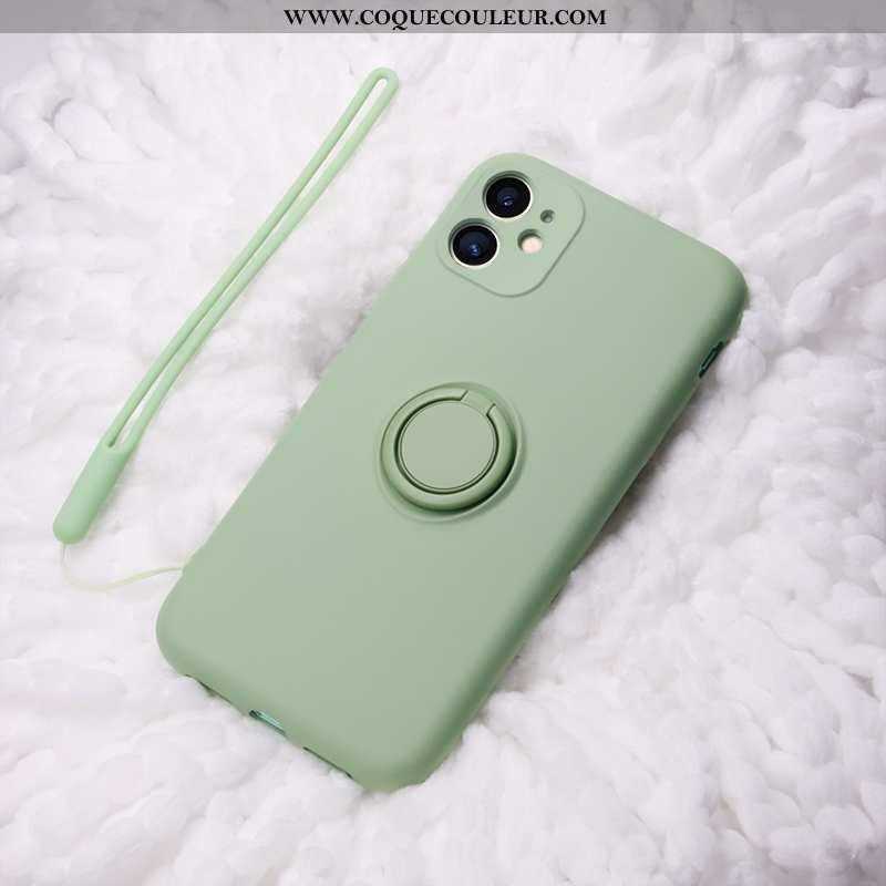 Coque iPhone 11 Protection Support Téléphone Portable, Housse iPhone 11 Ornements Suspendus Vert Ver