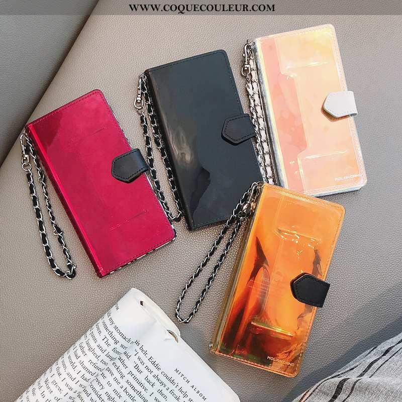 Coque iPhone 11 Luxe Protection Étui, Housse iPhone 11 Chaîne Fluide Doux Rouge