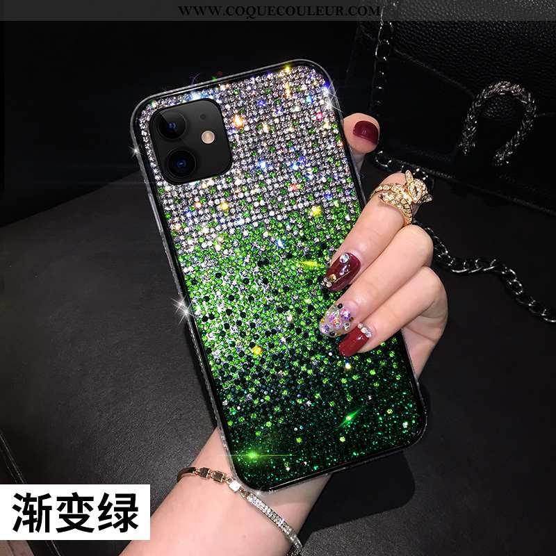 Coque iPhone 11 Tendance Personnalité Vert, Housse iPhone 11 Fluide Doux Tout Compris Verte