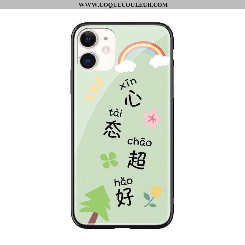Housse iPhone 11 Charmant Créatif Vert, Étui iPhone 11 Ultra Personnalité Verte