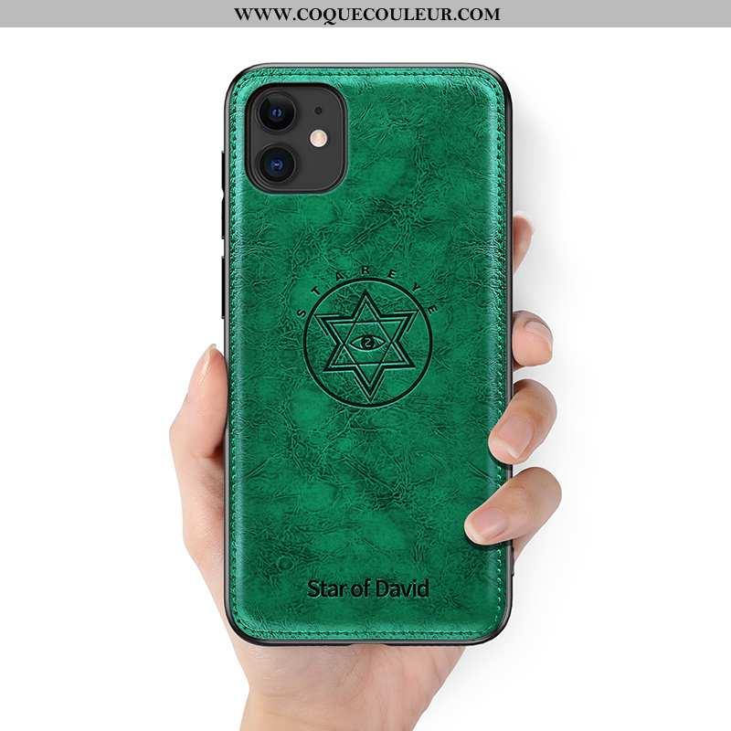 Étui iPhone 11 Personnalité Légère Tendance, Coque iPhone 11 Créatif Luxe Verte