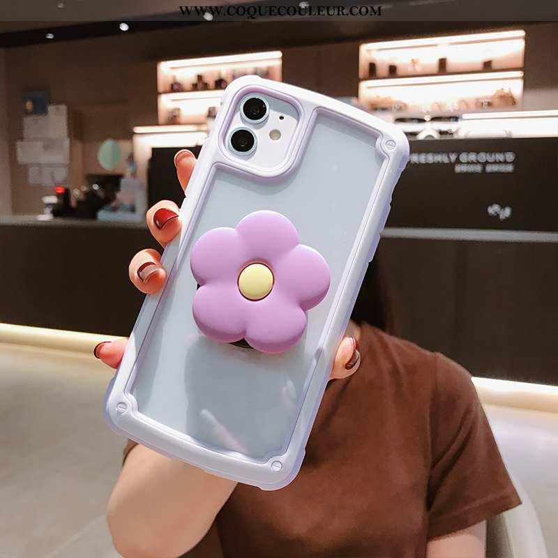Étui iPhone 11 Créatif Coque Étui, iPhone 11 Charmant Fleurs Rose