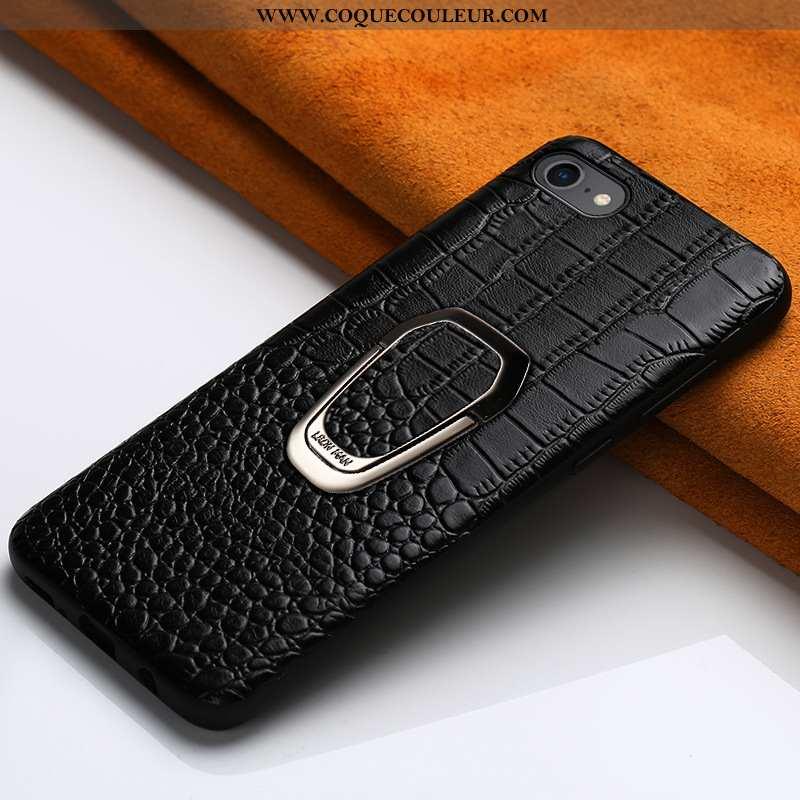 Étui iPhone 6/6s Plus Cuir Véritable Bovins Noir, Coque iPhone 6/6s Plus Tendance Incassable Noir