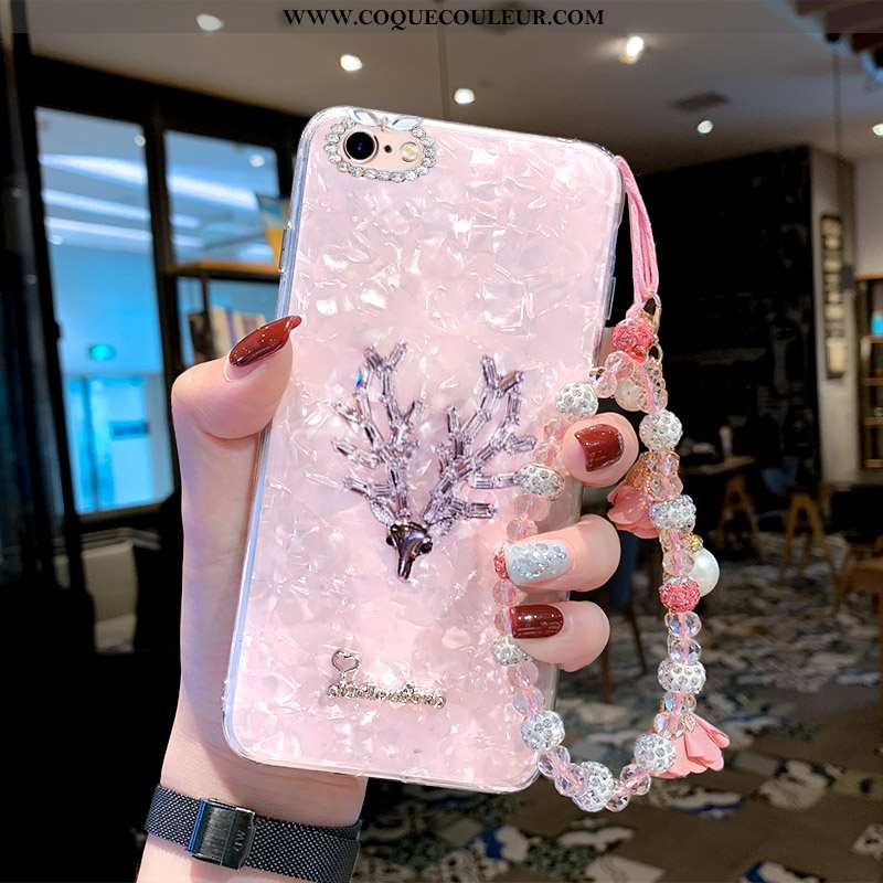 Housse iPhone 6/6s Plus Tendance Incassable Coloré, Étui iPhone 6/6s Plus Fluide Doux Net Rouge Rose