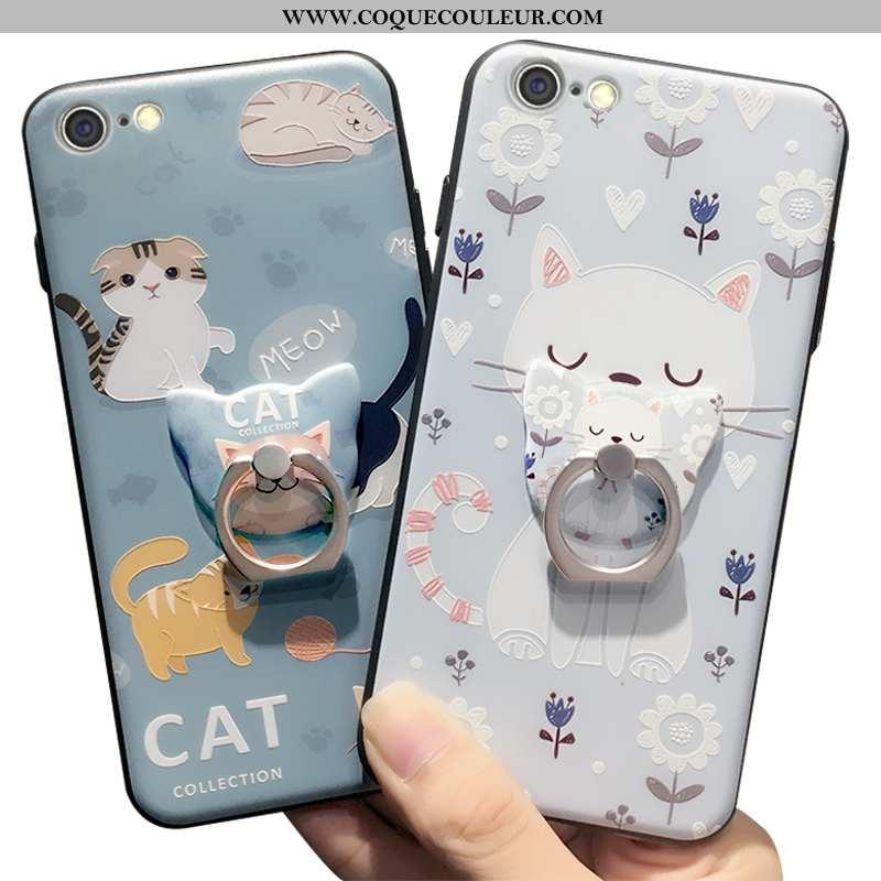 Étui iPhone 6/6s Plus Charmant Incassable Support, Coque iPhone 6/6s Plus Tendance Bleu
