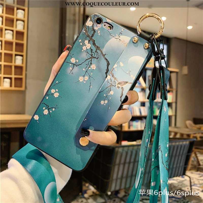 Coque iPhone 6/6s Plus Personnalité Silicone Incassable, Housse iPhone 6/6s Plus Tendance Bleu