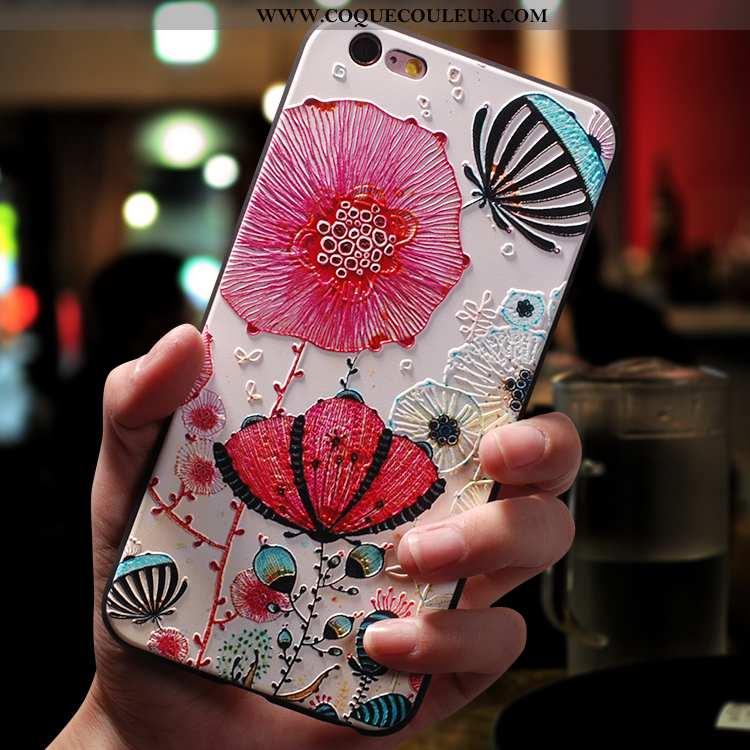 Coque iPhone 6/6s Plus Créatif Étui Incassable, Housse iPhone 6/6s Plus Dessin Animé Ultra Rose