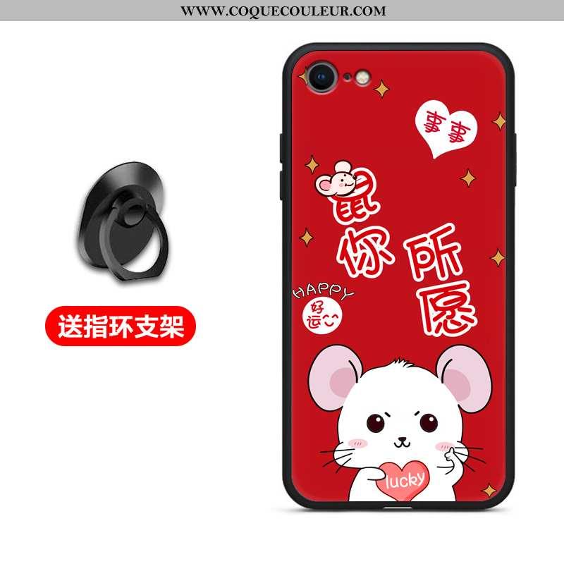 Coque iPhone 6/6s Plus Protection Silicone Rouge, Housse iPhone 6/6s Plus Fluide Doux Téléphone Port