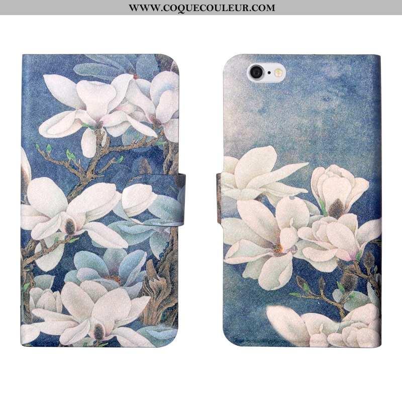 Coque iPhone 6/6s Plus Fleurs Bleu Coque, Housse iPhone 6/6s Plus Tendance Fluide Doux