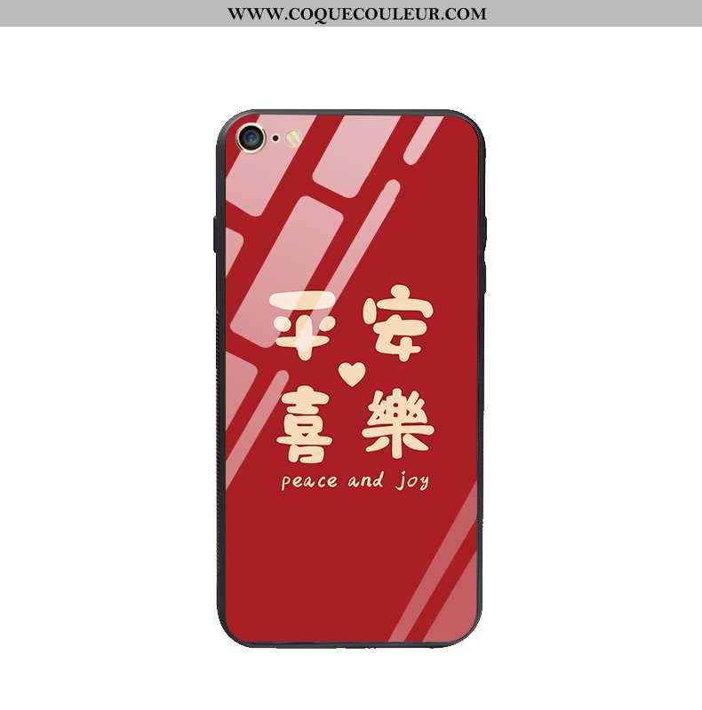 Étui iPhone 6/6s Plus Protection Nouveau Étui, Coque iPhone 6/6s Plus Verre Incassable Rouge