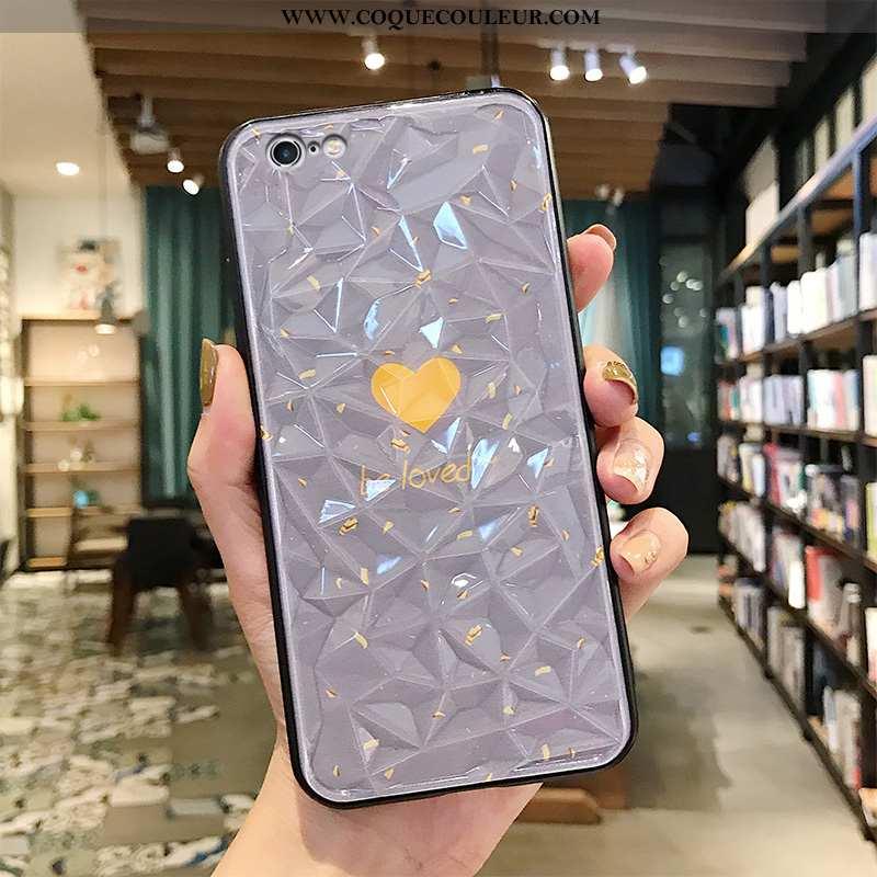 Housse iPhone 6/6s Plus Personnalité Incassable Vert, Étui iPhone 6/6s Plus Créatif Amour Argent