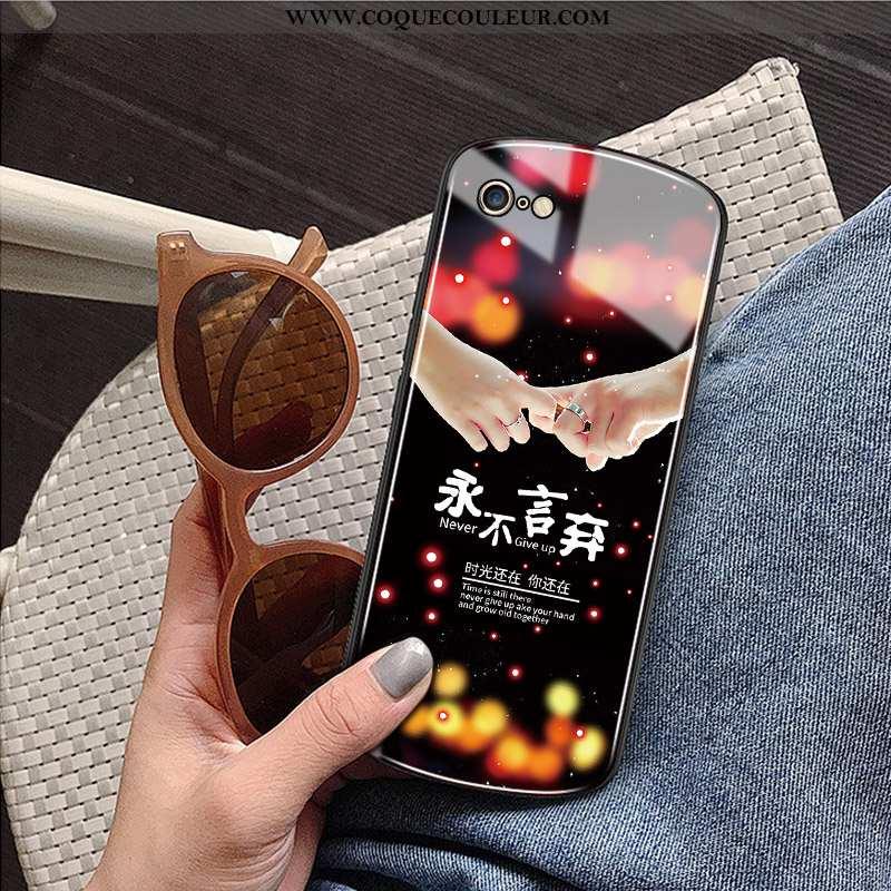 Housse iPhone 6/6s Plus Verre Nouveau Incassable, Étui iPhone 6/6s Plus Protection Net Rouge Noir