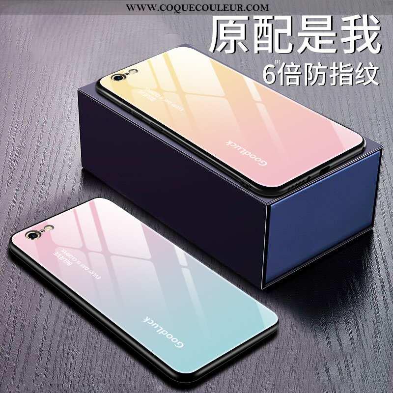 Étui iPhone 6/6s Plus Protection Rose Coque, Coque iPhone 6/6s Plus Verre Incassable