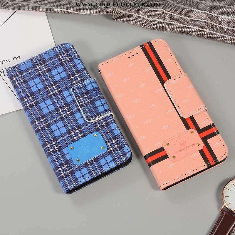Housse iPhone 6/6s Plus Légère Support Clamshell, Étui iPhone 6/6s Plus Cuir Élégant Bleu