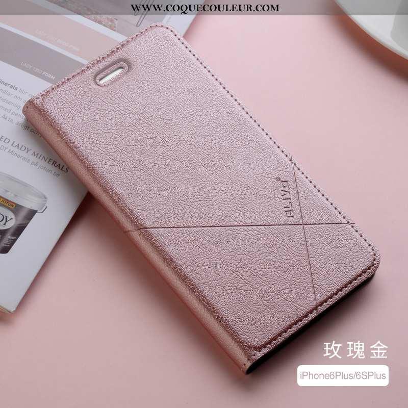 Housse iPhone 6/6s Plus Protection Fluide Doux Téléphone Portable, Étui iPhone 6/6s Plus Cuir Silico