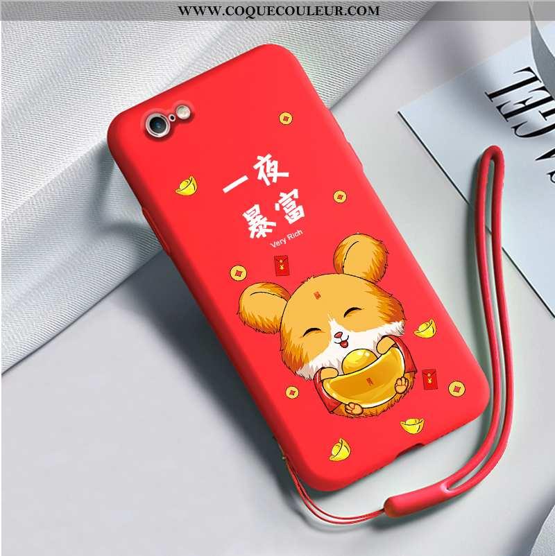 Étui iPhone 6/6s Personnalité Silicone Net Rouge, Coque iPhone 6/6s Fluide Doux Rouge
