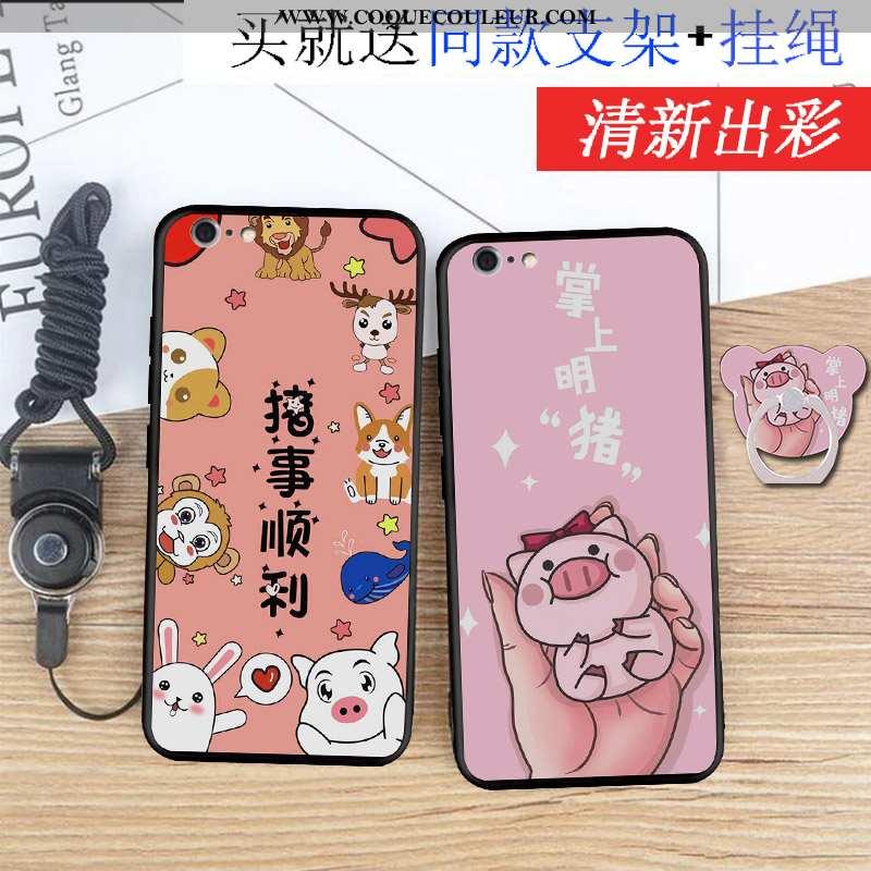 Étui iPhone 6/6s Légère Téléphone Portable Silicone, Coque iPhone 6/6s Fluide Doux Rose