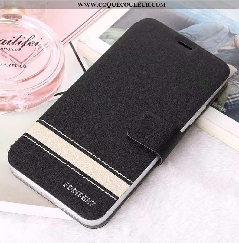 Coque iPhone 6/6s Cuir Téléphone Portable Coque, Housse iPhone 6/6s Incassable Noir