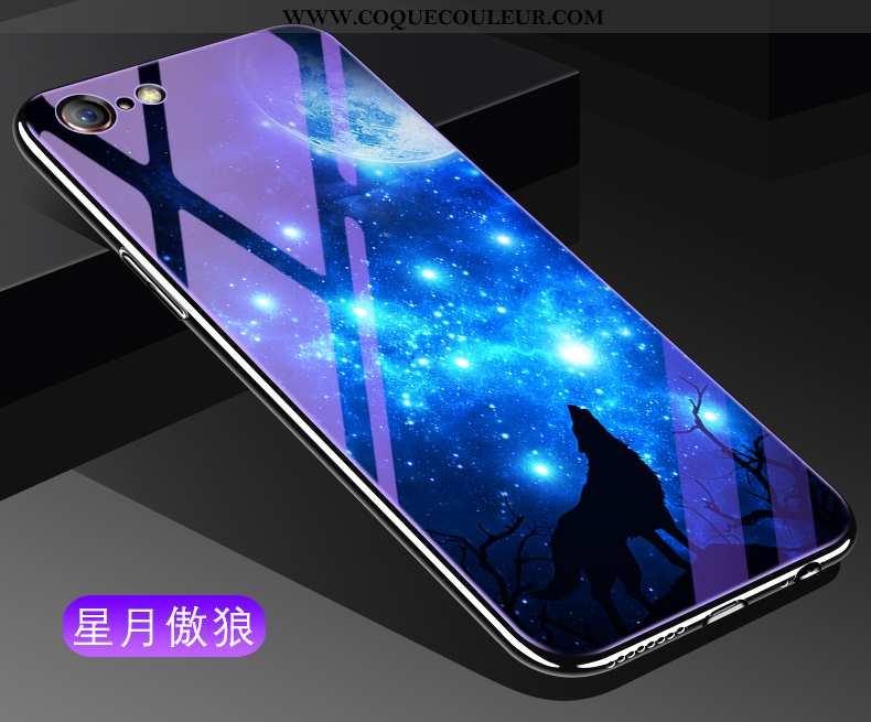 Coque iPhone 6/6s Tendance Incassable Étui, Housse iPhone 6/6s Verre Téléphone Portable Bleu