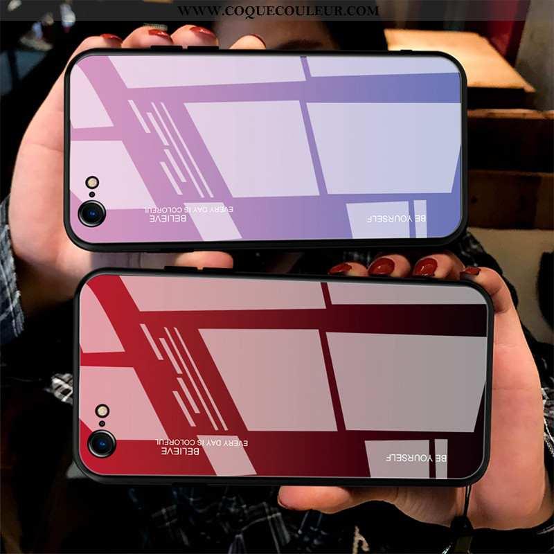 Coque iPhone 6/6s Fluide Doux Couvercle Arrière Bordure, Housse iPhone 6/6s Protection Tempérer Roug
