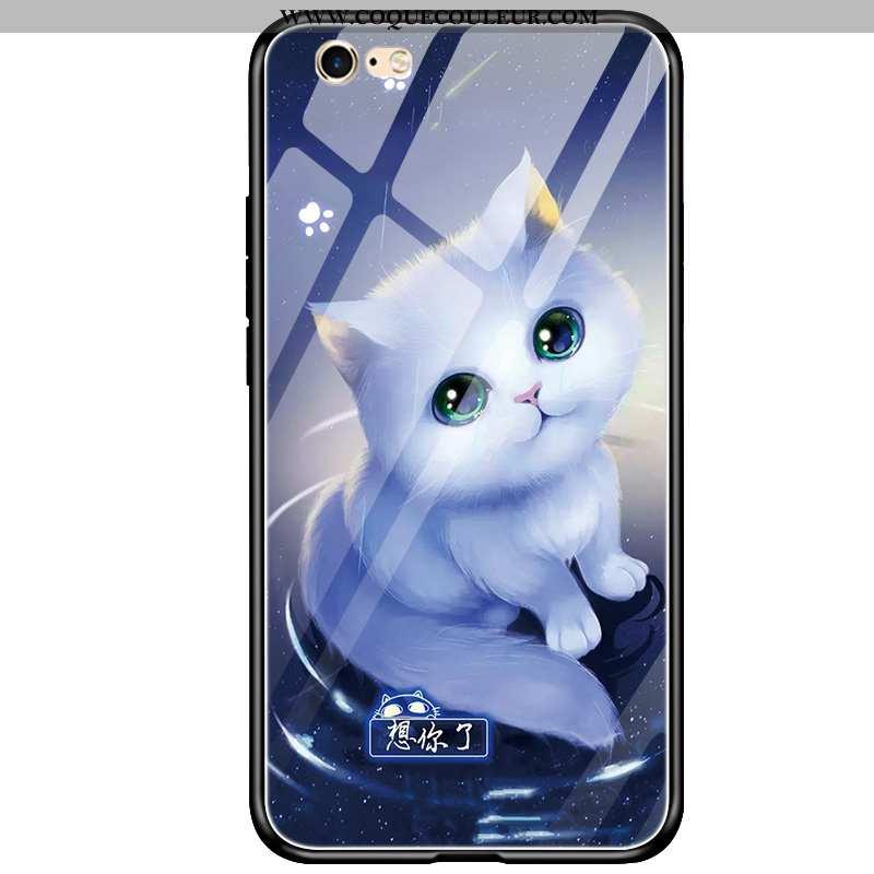 Housse iPhone 6/6s Personnalité Protection Silicone, Étui iPhone 6/6s Fluide Doux Bleu