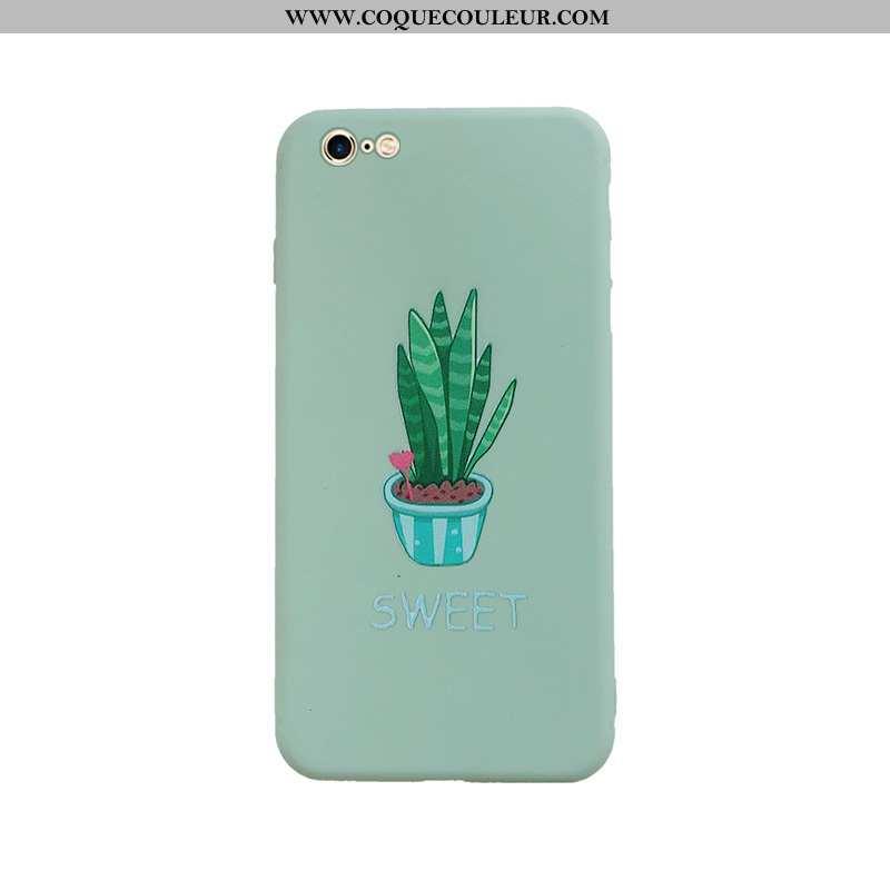 Étui iPhone 6/6s Protection Tout Compris Fluide Doux, Coque iPhone 6/6s Personnalité Nouveau Verte