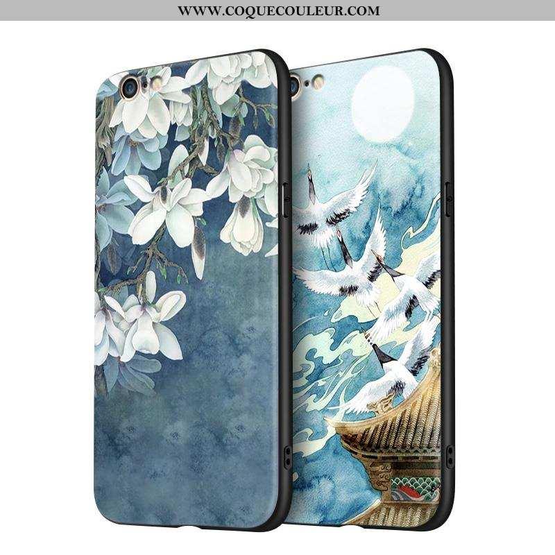 Étui iPhone 6/6s Fluide Doux Bleu, Coque iPhone 6/6s Silicone Téléphone Portable Bleu