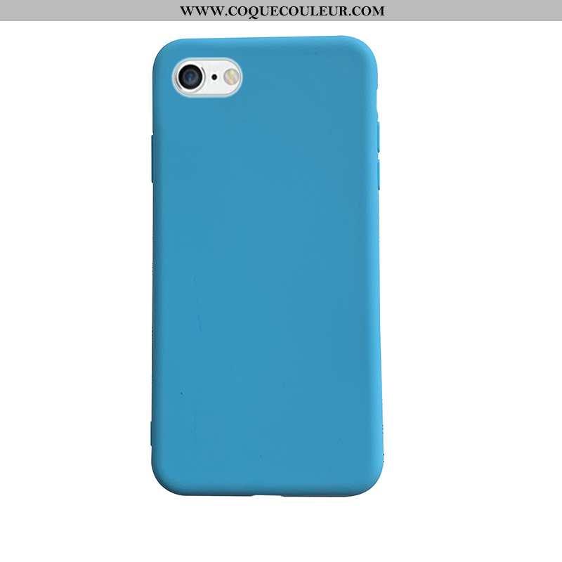 Coque iPhone 6/6s Fluide Doux Couleur Unie Étui, Housse iPhone 6/6s Silicone Bleu