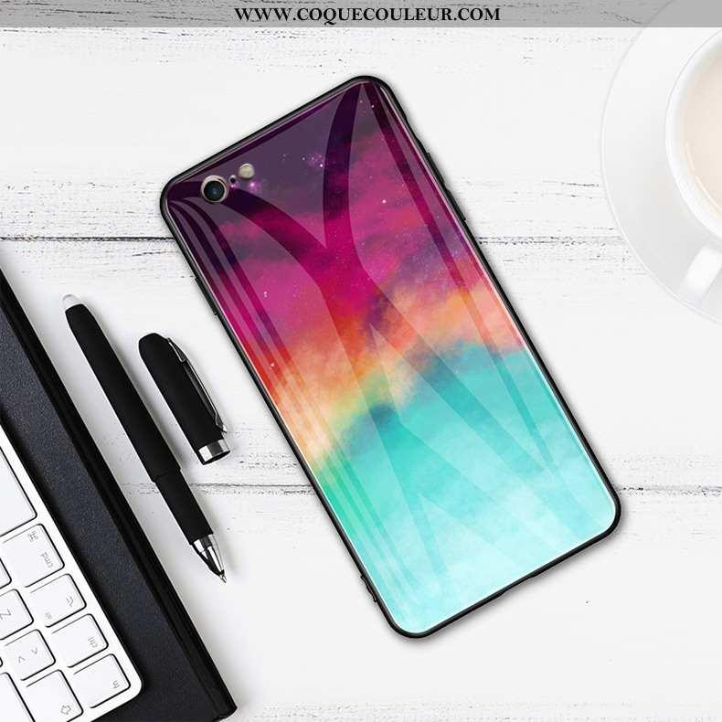 Étui iPhone 6/6s Verre Téléphone Portable Coque, Coque iPhone 6/6s Protection Simple Coloré