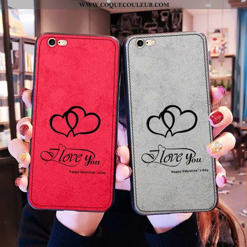 Étui iPhone 6/6s Mode Net Rouge Téléphone Portable, Coque iPhone 6/6s Protection Dessin Animé