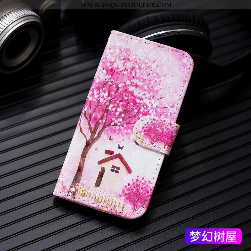 Housse iPhone 6/6s Protection Créatif Cuir, Étui iPhone 6/6s Personnalité Carte Rose