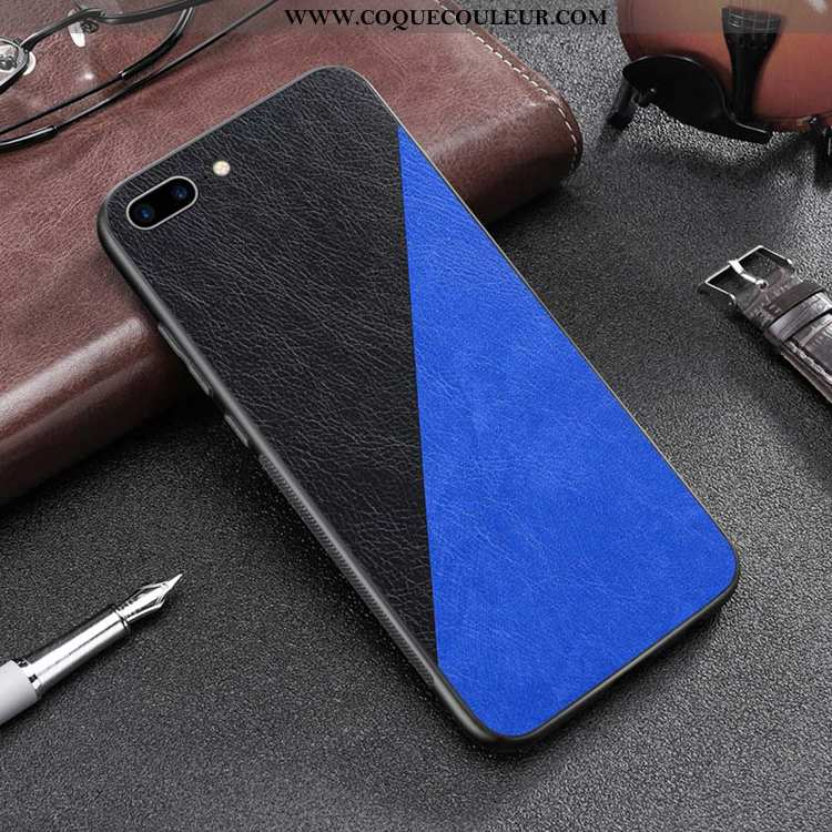 Coque iPhone 7 Plus Personnalité Téléphone Portable Protection, Housse iPhone 7 Plus Cuir Noir