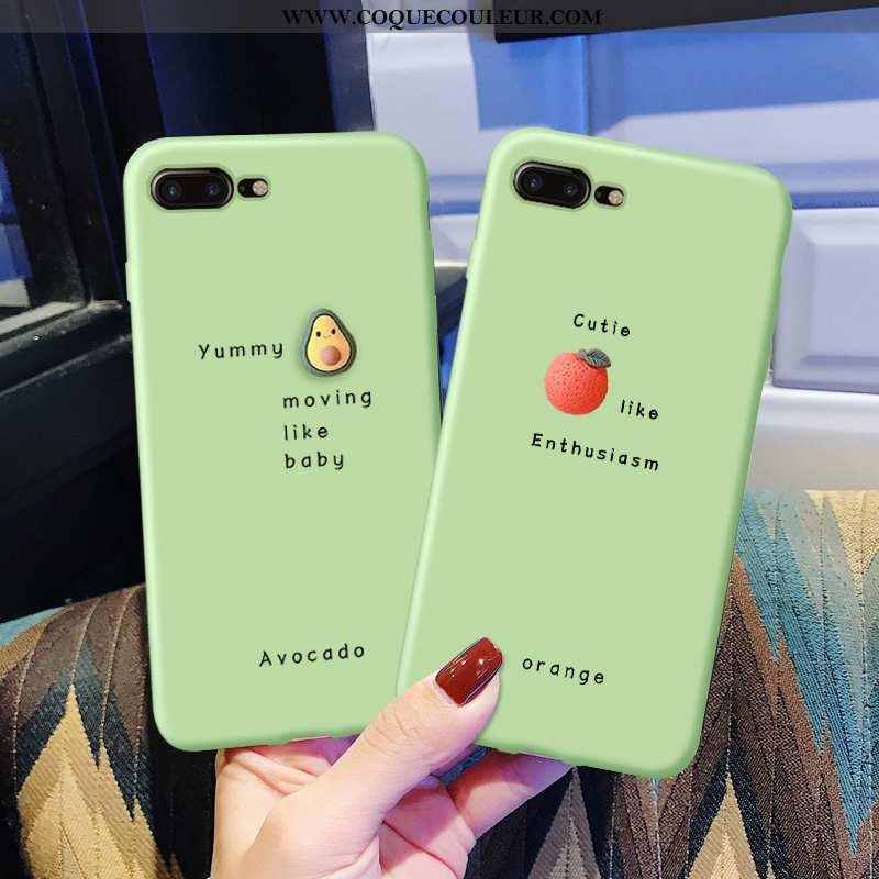 Coque iPhone 7 Plus Personnalité Pu Légère, Housse iPhone 7 Plus Créatif Silicone Verte