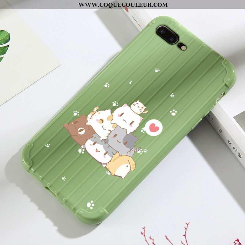 Housse iPhone 7 Plus Dessin Animé Coque Incassable, Étui iPhone 7 Plus Tendance Tout Compris Verte