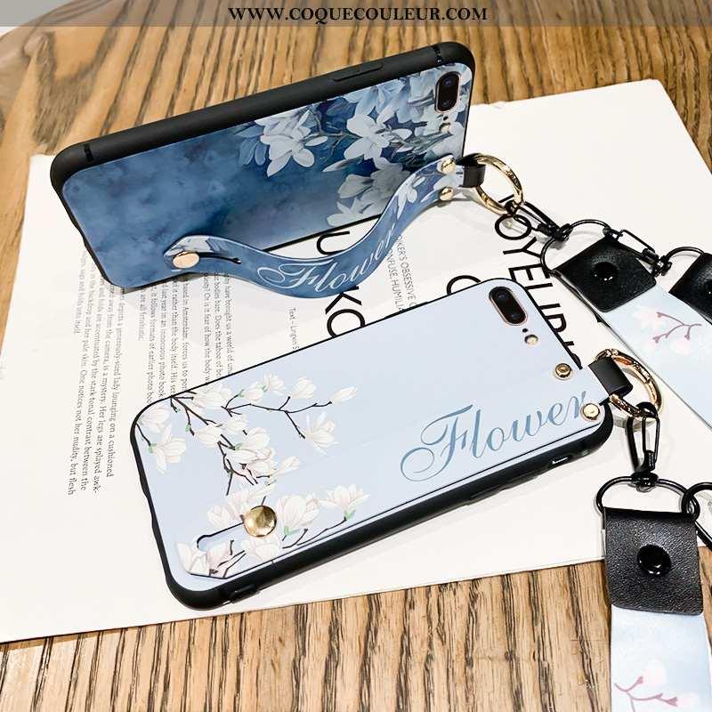 Housse iPhone 7 Plus Personnalité Étui Nouveau, iPhone 7 Plus Créatif Coque Bleu Foncé