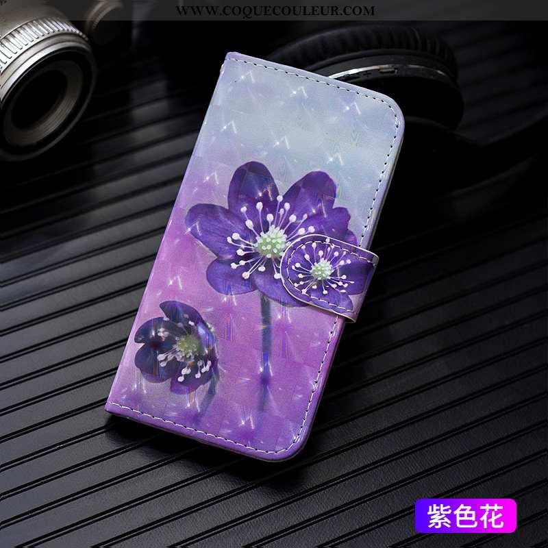 Étui iPhone 7 Plus Cuir Pu Tendance, Coque iPhone 7 Plus Protection Violet