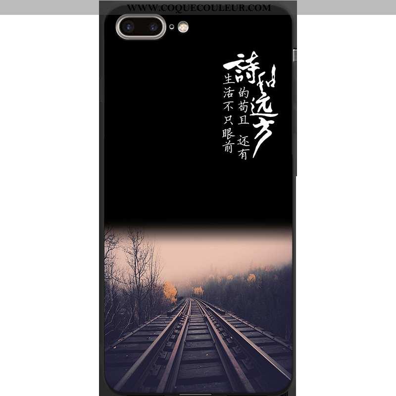 Étui iPhone 7 Plus Personnalité Coque, Coque iPhone 7 Plus Créatif Téléphone Portable Noir