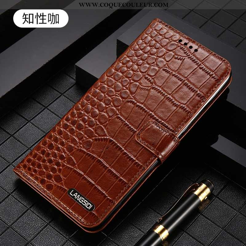 Housse iPhone 7 Plus Protection Cuir Véritable Incassable, Étui iPhone 7 Plus Luxe Téléphone Portabl