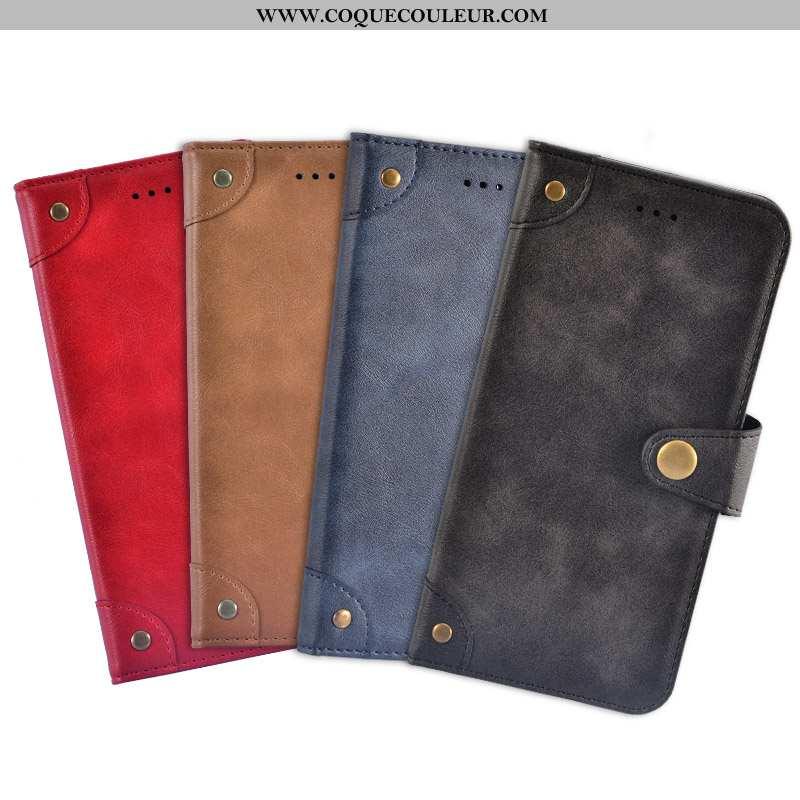 Housse iPhone 7 Plus Portefeuille Coque Étui, Étui iPhone 7 Plus Cuir Téléphone Portable Rouge