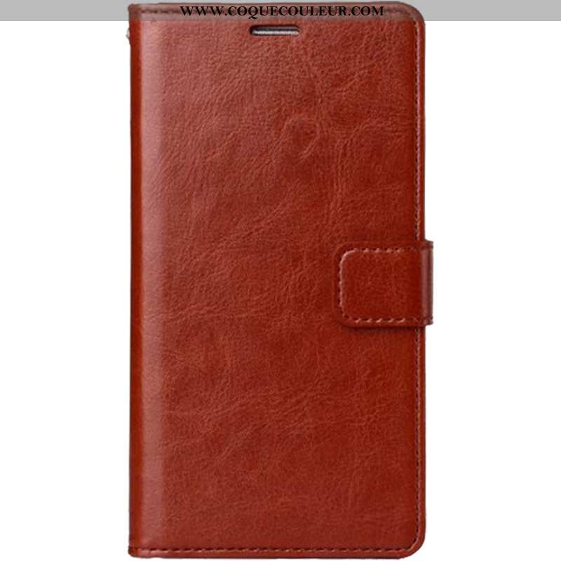Coque iPhone 7 Plus Cuir Pu Clamshell, Housse iPhone 7 Plus Portefeuille Marron