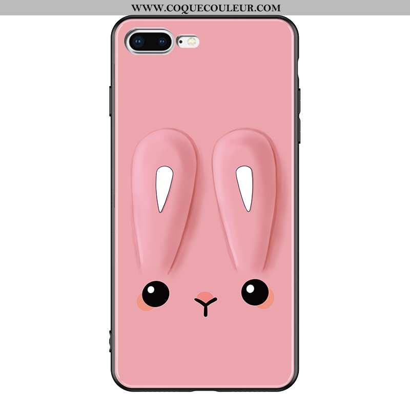 Coque iPhone 7 Plus Protection Téléphone Portable, Housse iPhone 7 Plus Verre Personnalité Rose