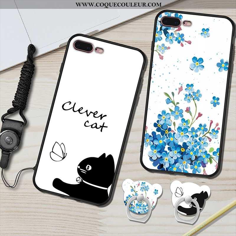 Housse iPhone 7 Plus Ornements Suspendus Blanc Coque, Étui iPhone 7 Plus Fluide Doux Anneau Blanche