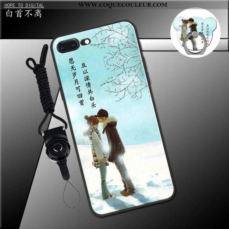 Coque iPhone 7 Plus Charmant Téléphone Portable Coque, Housse iPhone 7 Plus Fluide Doux Vert Verte
