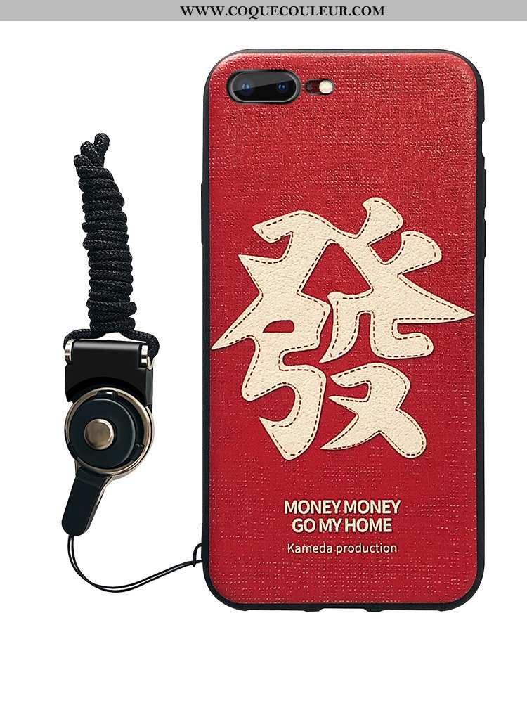 Étui iPhone 7 Plus Fluide Doux Grand Nouveau, Coque iPhone 7 Plus Silicone Téléphone Portable Rouge