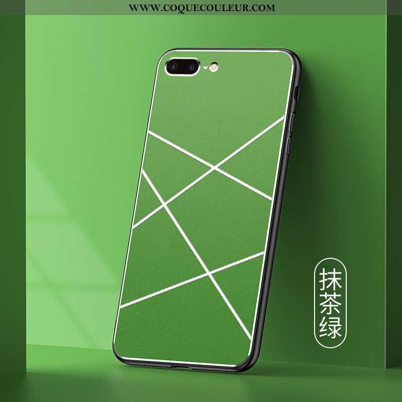 Housse iPhone 7 Plus Mode Tout Compris Personnalité, Étui iPhone 7 Plus Protection Pu Verte