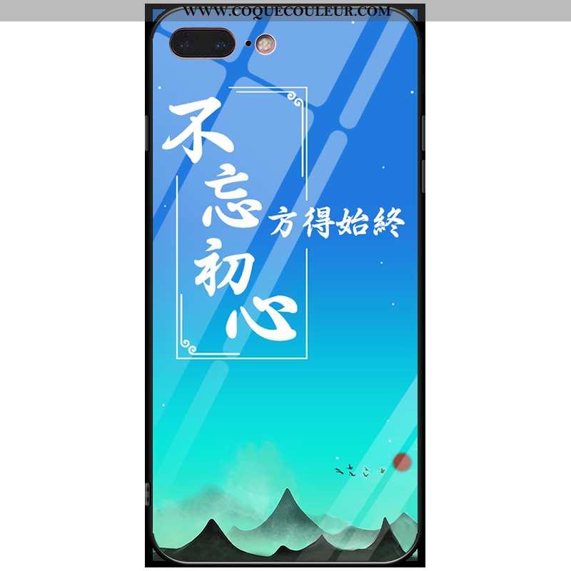 Coque iPhone 7 Plus Verre Anneau Incassable, Housse iPhone 7 Plus Ornements Suspendus Téléphone Port