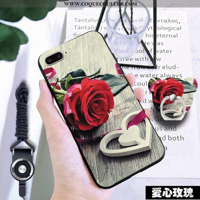 Étui iPhone 7 Plus Fluide Doux Rouge Coque, Coque iPhone 7 Plus Incassable Téléphone Portable