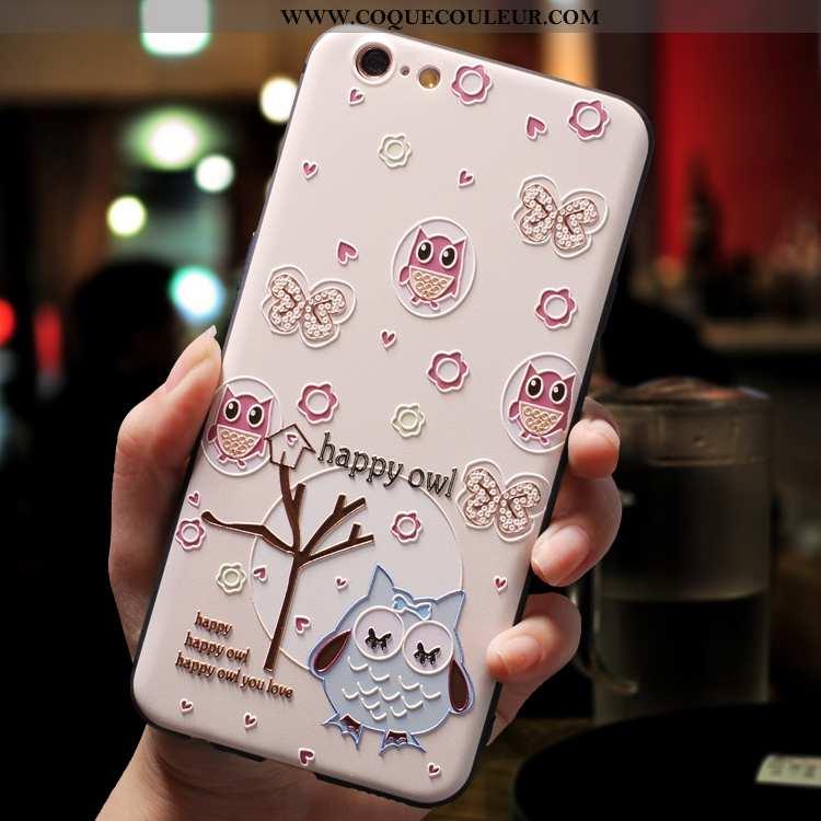 Housse iPhone 7 Créatif Tendance Légère, Étui iPhone 7 Dessin Animé Incassable Rose