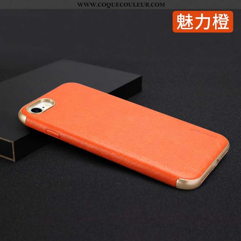Housse iPhone 7 Fluide Doux Incassable Net Rouge, Étui iPhone 7 Protection Tendance Orange